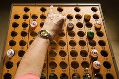 Επισκέπτης Bingo στην εργασία Στοκ Φωτογραφία