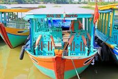 Επισκεμμένος τη βάρκα σε Hoi, παγκόσμια κληρονομιά της ΟΥΝΕΣΚΟ του Βιετνάμ Στοκ εικόνες με δικαίωμα ελεύθερης χρήσης