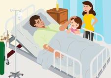 Επισκεπτόμενος ασθενής στο νοσοκομείο Στοκ Φωτογραφία