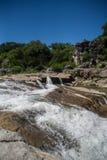 Επισκεπτόμενο κρατικό πάρκο πτώσεων Pedernales στοκ εικόνες με δικαίωμα ελεύθερης χρήσης