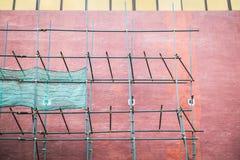 Επισκευή ενός τοίχου οικοδόμησης Στοκ Φωτογραφία