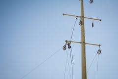 επισκευή ισχύος γραμμών Στοκ Εικόνες