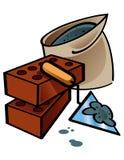 επισκευή σπιτιών οικοδόμ ελεύθερη απεικόνιση δικαιώματος