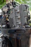Επισκευή της μηχανής motorboat Στοκ Εικόνα