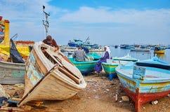 Επισκευή της ξύλινης βάρκας, Αλεξάνδρεια, Αίγυπτος στοκ φωτογραφία με δικαίωμα ελεύθερης χρήσης