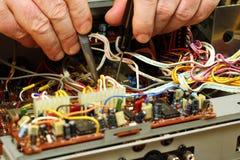 Επισκευή της συσκευής Στοκ φωτογραφία με δικαίωμα ελεύθερης χρήσης
