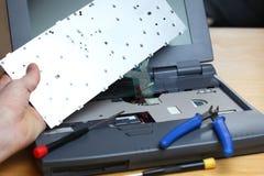 Εγκαταστήστε το σημειωματάριο στοκ φωτογραφίες με δικαίωμα ελεύθερης χρήσης