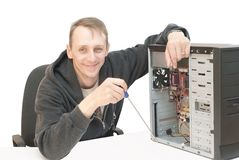 επισκευή υπολογιστών Στοκ Εικόνες