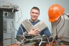 Επισκευαστής ειδικού PC τεχνικών υπολογιστών Στοκ Εικόνες