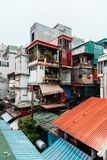 Επισκεφτείτε το παλαιό διαμέρισμα της οδού Giai phong, πόλη του Ανόι, Βιετνάμ Ληφθείσα φωτογραφία ημερομηνία: 21/12/το 2018 στοκ φωτογραφίες με δικαίωμα ελεύθερης χρήσης