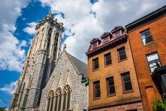 Επισκοπική Εκκλησία του Emmanuel στη Βαλτιμόρη, Μέρυλαντ στοκ εικόνα με δικαίωμα ελεύθερης χρήσης