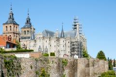Επισκοπικό παλάτι - Astorga - Ισπανία Στοκ εικόνα με δικαίωμα ελεύθερης χρήσης