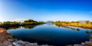 Επισκόπηση ενός τεντώματος της λίμνης Petrosu, Orosei Σαρδηνία Στοκ φωτογραφίες με δικαίωμα ελεύθερης χρήσης