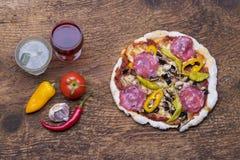 Επισκόπηση μιας πίτσας στοκ φωτογραφία