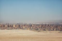 Επισκόπηση πόλεων Giza στοκ φωτογραφίες