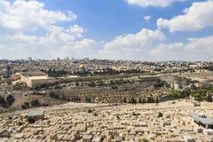 Επισκόπηση της Ιερουσαλήμ Στοκ Εικόνες