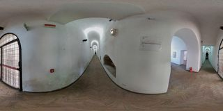 επισκόπηση 360 του διαδρόμου μουσείων Στοκ εικόνα με δικαίωμα ελεύθερης χρήσης