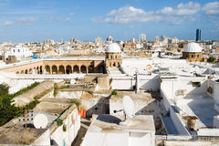 Επισκόπηση του μεγάλου μουσουλμανικού τεμένους Al-Zaytuna στην Τυνησία Στοκ Φωτογραφίες