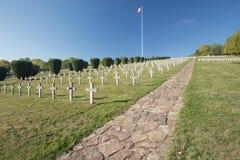 Επισκόπηση του πολεμικού νεκροταφείου Vieil Armand Στοκ Φωτογραφίες