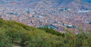 Επισκόπηση Cusco από Sacsayhuaman στοκ φωτογραφίες