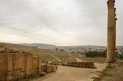 Επισκόπηση Jerash Στοκ Εικόνες