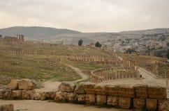 Επισκόπηση Jerash Στοκ Φωτογραφίες