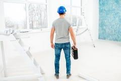 Επιστάτης ή εργαζόμενος στο εσωτερικό Στοκ εικόνα με δικαίωμα ελεύθερης χρήσης