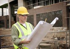 Επιστάτης κατασκευής στην περιοχή εργασίας Στοκ Εικόνες