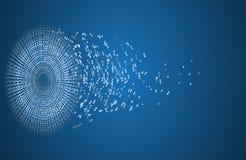 Επιστήμης φουτουριστική επιχείρηση τεχνολογίας υπολογιστών Διαδικτύου υψηλή διανυσματική απεικόνιση
