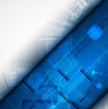 Επιστήμης φουτουριστική επιχείρηση τεχνολογίας υπολογιστών Διαδικτύου υψηλή Στοκ Εικόνες