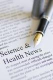 επιστήμη ειδήσεων υγεία&sig Στοκ φωτογραφία με δικαίωμα ελεύθερης χρήσης
