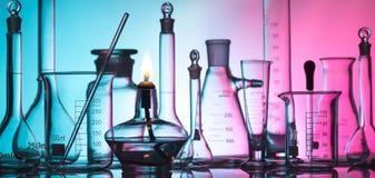 Επιστήμη και ιατρικό υπόβαθρο Στοκ Φωτογραφία