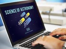 Επιστήμη της νεφελοειδούς έννοιας εξερεύνησης αστρονομίας Στοκ Φωτογραφίες
