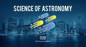 Επιστήμη της νεφελοειδούς έννοιας εξερεύνησης αστρονομίας Στοκ Εικόνα