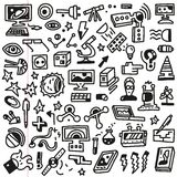 Επιστήμη - doodles θέστε Στοκ φωτογραφία με δικαίωμα ελεύθερης χρήσης