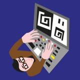 Επιστήμονας στον υπολογιστή Στοκ εικόνα με δικαίωμα ελεύθερης χρήσης