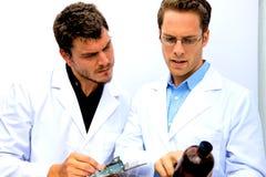 επιστήμονες μαζί δύο που &ep Στοκ Φωτογραφία