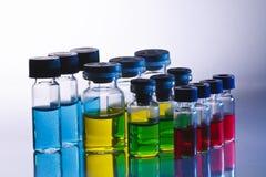Επιστημονικά μπουκάλια δειγμάτων Στοκ Εικόνα
