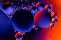 Επιστημονική εικόνα της μεμβράνης κυττάρων Μακροεντολή επάνω των υγρών ουσιών Αφηρημένο sctructure ατόμων μορίων μπλε ύδωρ φυσαλί Στοκ Εικόνες