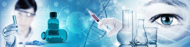 Επιστημονικός και ιατρική έρευνα διανυσματική απεικόνιση