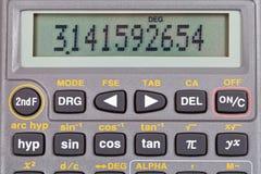 Επιστημονικός υπολογιστής με τις μαθηματικές λειτουργίες Στοκ φωτογραφία με δικαίωμα ελεύθερης χρήσης