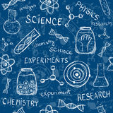 Επιστημονικό άνευ ραφής σχέδιο πειραμάτων Στοκ εικόνα με δικαίωμα ελεύθερης χρήσης
