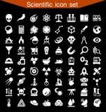 Επιστημονικό σύνολο εικονιδίων Στοκ εικόνα με δικαίωμα ελεύθερης χρήσης