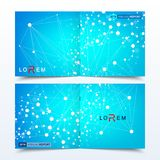 Επιστημονικό τετραγωνικό φυλλάδιο προτύπων, περιοδικό, φυλλάδιο, ιπτάμενο, κάλυψη, βιβλιάριο, ετήσια έκθεση Επιστημονική έννοια γ Στοκ φωτογραφίες με δικαίωμα ελεύθερης χρήσης
