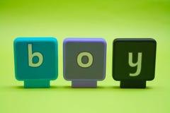 επιστολές αγοριών στοκ φωτογραφία με δικαίωμα ελεύθερης χρήσης