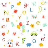 επιστολές αλφάβητου διανυσματική απεικόνιση