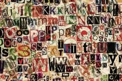 επιστολές ανασκόπησης Στοκ φωτογραφία με δικαίωμα ελεύθερης χρήσης