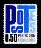Επιστολές, καθήκον 50 σεντ, Postocollant, serie, circa 2007 Στοκ Φωτογραφία