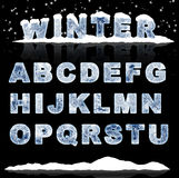 επιστολές πάγου Στοκ εικόνες με δικαίωμα ελεύθερης χρήσης