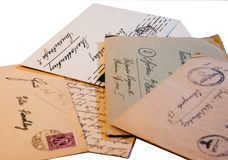 επιστολές παλαιές Στοκ φωτογραφίες με δικαίωμα ελεύθερης χρήσης
